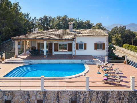 SEL52451 Stunning villa for sale with private pool and views to the sea and the countryside in Selva