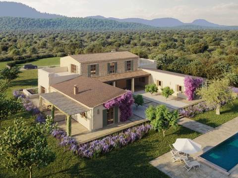 STM50090 Country house in contemporary style with garden and pool in Santa Maria