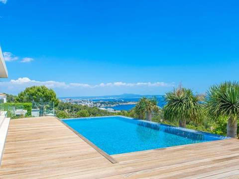 SWOBEN40017 Villa with luxury design and views of the bay of Palma in Bendinat
