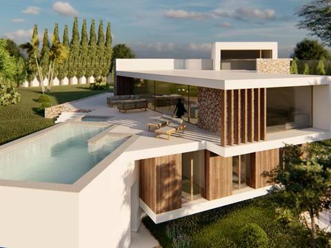 SWOBEN40126 Designer villa, in an exclusive area, just 150m from the beach in Bendinat