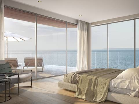 SWOCAS11462 Sea front apartment under construction in a luxury residential complex in Cas Catala