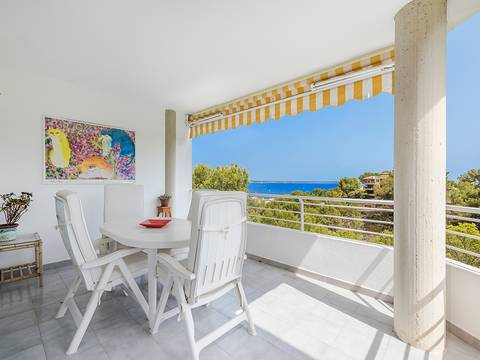 SWOCAS1860 Cosy penthouse with beautiful sea view in Cas Catala