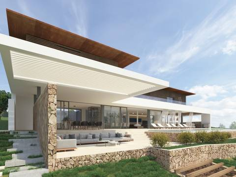 SWOCAV40019 Project for luxury villa with sea water pool in Cala Vinyes