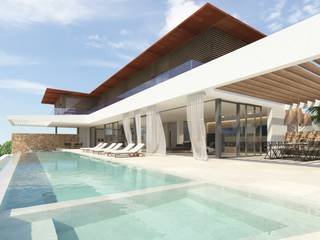 Project for luxury villa with sea water pool in Cala Vinyes