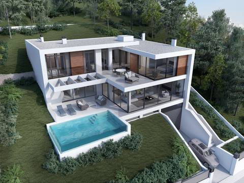 SWOCDB0190 Exclusive residential plot with villa project in Costa d´en Blanes, Calviá