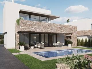 Modern newly built villa located a few meters from the beach of Sa Rapita