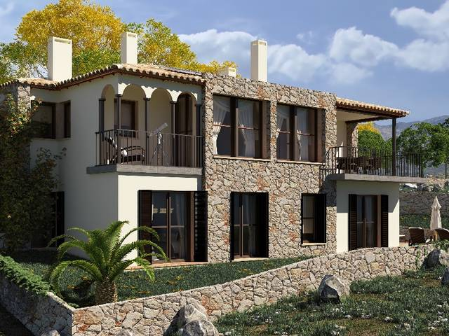 Country house under construction offering top quality and sea views in Galilea