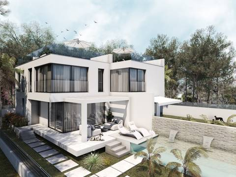 SWOLLU0171 Project of villa with private pool and garden in Puig de Ros