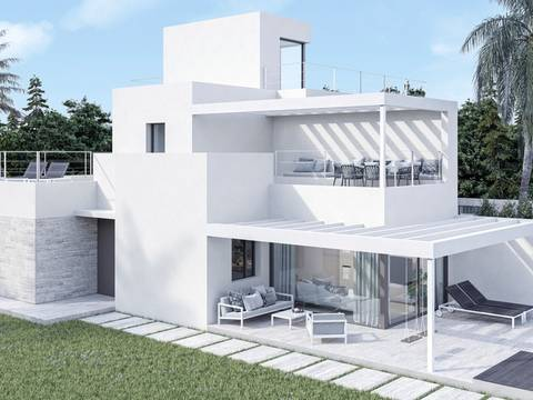 SWOLLU2222 Modern, semi-detached house project in Puig de Ros, Llucmajor