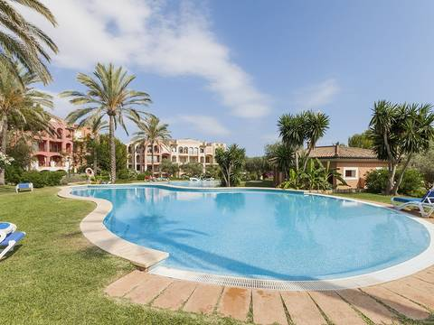 SWONSP1585 Apartment for sale in Santa Ponsa with views over the community pool and garden