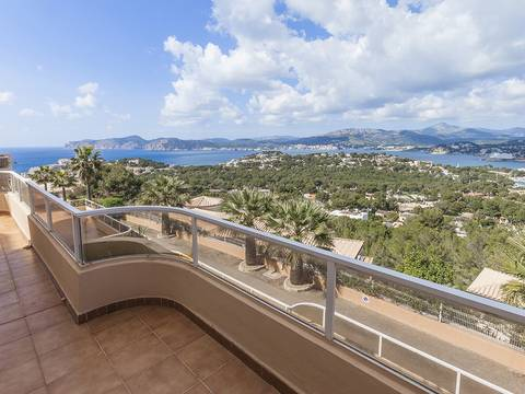 SWONSP1824 Duplex apartment with sea views in exclusive community in Santa Ponsa