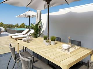Apartment with private top terrace of new construction in Santa Ponsa