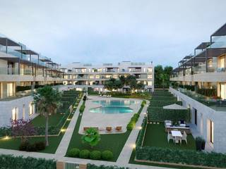 Apartment with garden, community pools and parking in new construction in Santa Ponsa