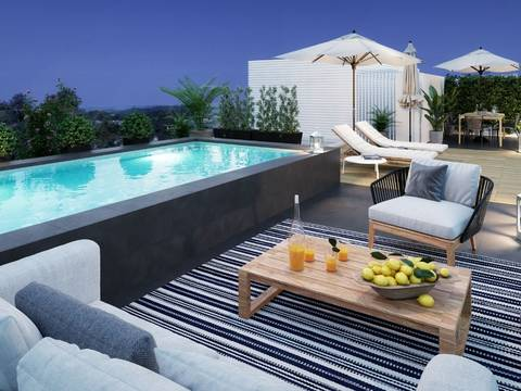SWONSP1990A Apartment with private top terrace new construction in Santa Ponsa