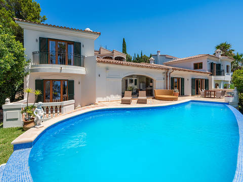 SWONSP40092 Mediterranean style villa with pool, close to Port Adriano in Santa Ponsa