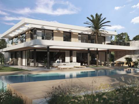 SWONSP40169 Brand new, high-tech villa with various entertainment areas and a spa in Santa Ponsa