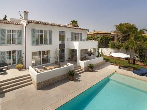 SWONSP4752 Newly renovated, 4 bedroom villa with pool in Santa Ponsa