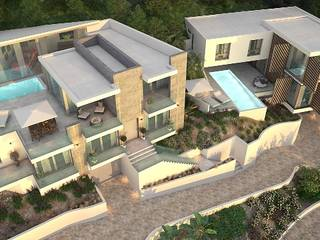 Luxurious villa with ultra modern design under construction in Santa Ponsa