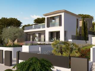 Stunning villa under construction with luxury materials and first class design in Santa Ponsa
