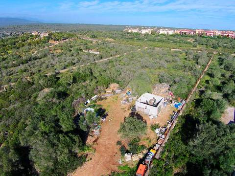 SWOPAL0107 7500m2 rustic plot with sea views only a few minutes away from the centre of Palma