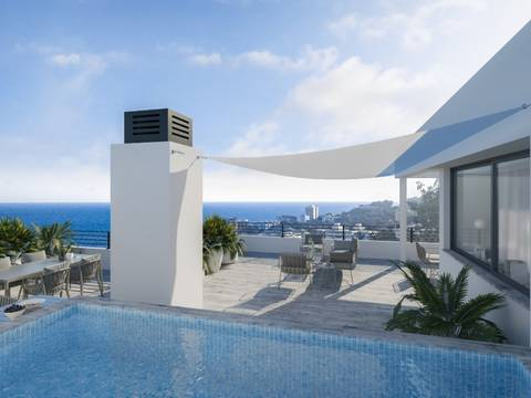 SWOPAL0168 Plot with licence for 4 apartments with sea views in San Augustin