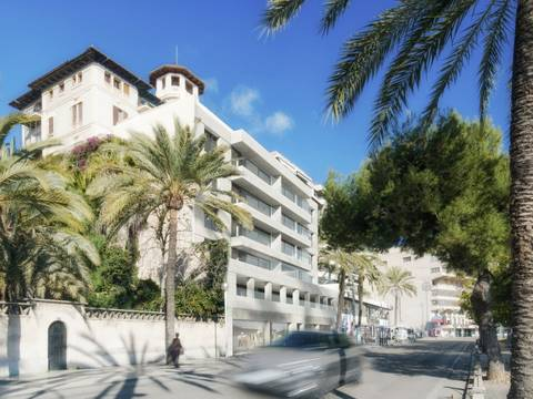 SWOPAL10091BPO Luxury seafront apartment overlooking Palma´s famous Paseo Marítimo
