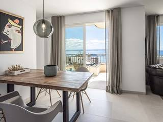 Refurbished penthouse apartment with terrace views over Palma Bay.