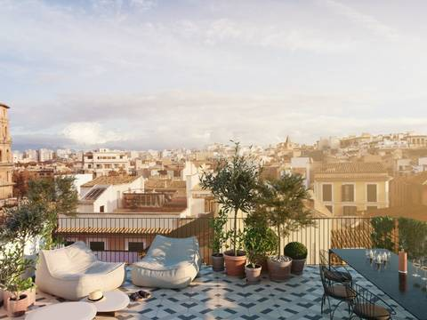 SWOPAL10217 Exceptional second floor apartment,  within walking distance Palma's main square