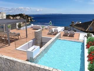 Amazing penthouse with private roof terrace and sea views in Sant Agusti