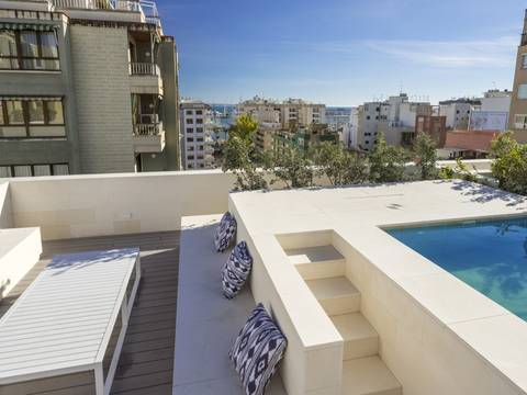 SWOPAL10238 Newly built penthouse with community pool in Palma
