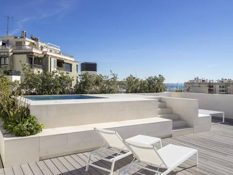 SWOPAL10239 Newly built penthouse with private pool and community pool in Palma