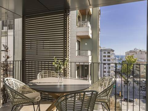 SWOPAL10240 Newly built aparment with community pool on roof terrace in Palma