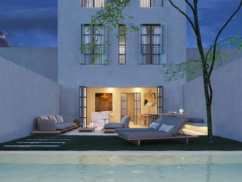 SWOPAL1030 Amazing townhouse in the trendy Santa Catalina district of Palma