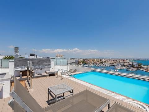 SWOPAL1856 Luxury penthouse with sea view and private pool in Portixol
