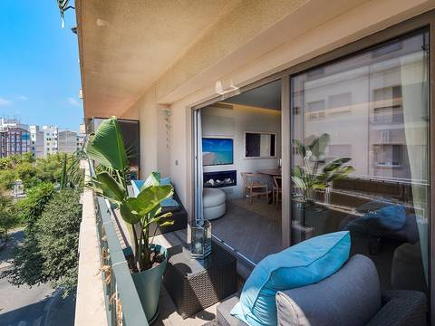 SWOPAL1862 Luxury renovated apartment in south after area of Palma