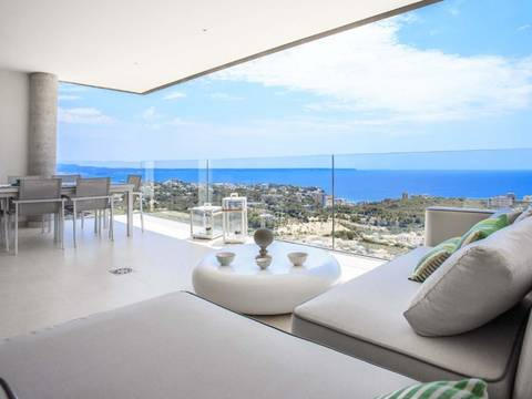 SWOPAL1907 Spectacular newly built apartments with views over the bay of Palma