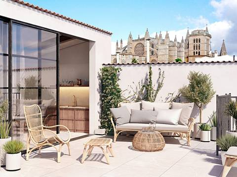 SWOPAL1928 Wonderful penthouse with private roof terrace, in the old town of Palma de Mallorca
