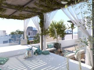 Bright and spacious loft style apartment with roof terrace in Palma