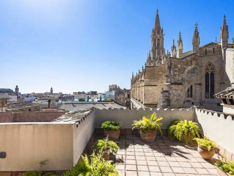 SWOPAL1994 Wonderful apartment with terrace views overlooking the church of Santa Eulalia