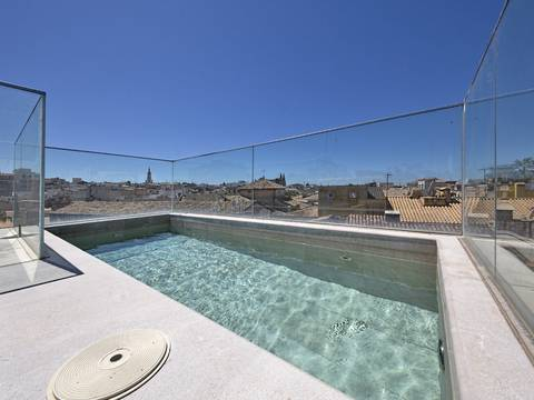 SWOPAL2097 Spectacular town house with terrace and pool for sale in the old town