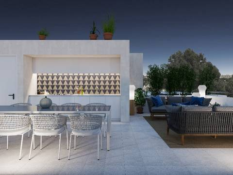 SWOPAL2132 Newly built semi-detached house with sea views just five minutes from Palma