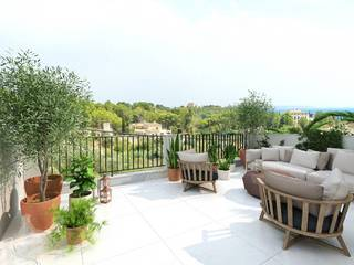 Newly built townhouses with pools, terraces and sea views in Genova