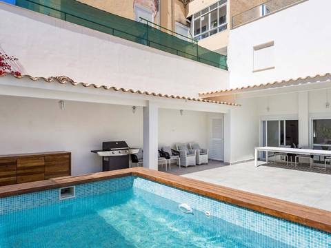 SWOPAL2157 Townhouse with private pool, in walking distance to the beach in Palma