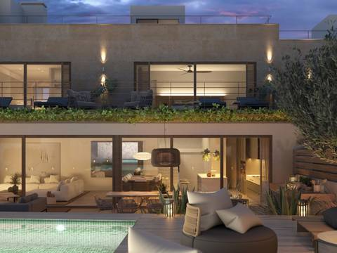 SWOPAL2199 Contemporary 4 bedroom townhouse with private garden, close to Palma in Gènova