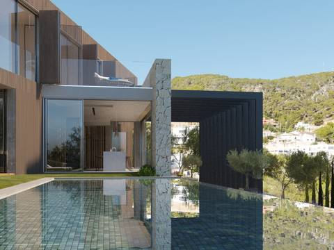 SWOPAL4565 Villa in Genova with minimalist architecture and panoramic views