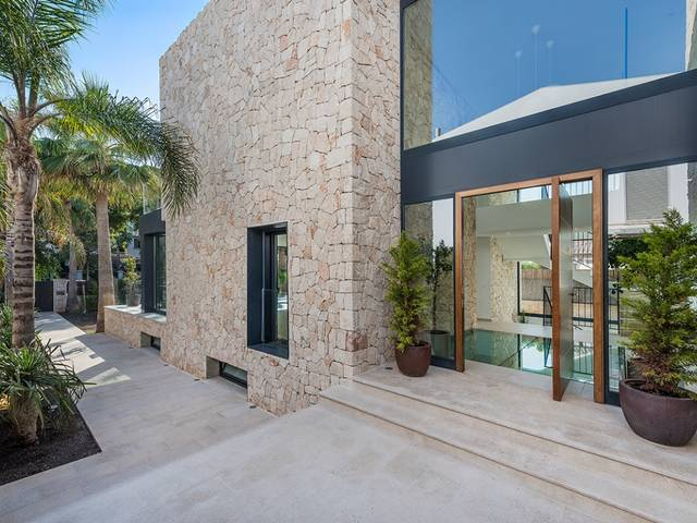 Fabulous modern villa with indoor pool and spa in a beach area of Palma