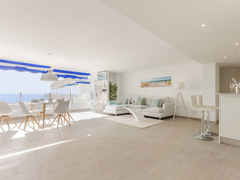 SWOPOR1760 Renovated apartment with views of the community garden, harbour and open sea in Puerto Portals