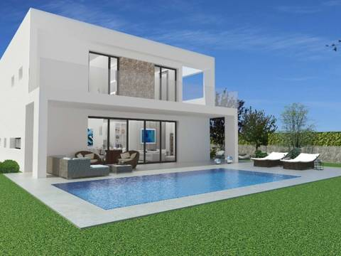 SWOSAN4924 Impressive modern villa project with pool in Cala Llombards, Santanyí