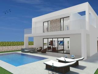Impressive modern villa project with pool in Cala Llombards, Santanyí