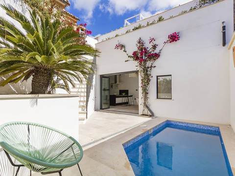 SWOSES2229 Beautiful town house with private pool and roof terrace in Ses Salines